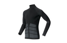 Odlo Men Shirt l/s 1/2 zip EVOLUTION WARM black